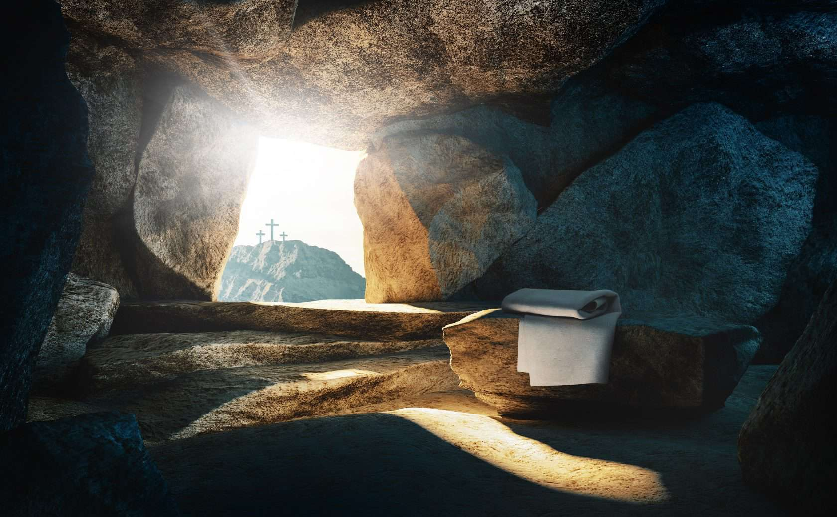 Empty tomb, Jesus' resurrection. Appearing in The Well, a gospel-centered website housing video life stories of people transformed through receiving Jesus Christ into their life