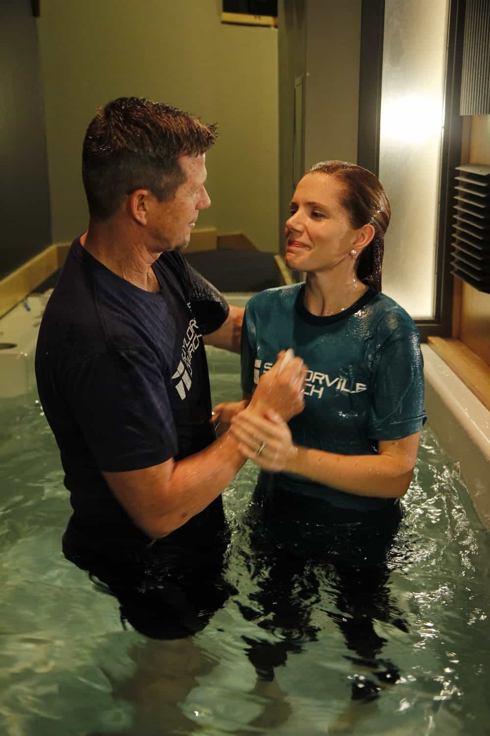 Gemma Sandberg's baptism. Gemma is Founder of The Well, a gospel-centered website housing video life stories of people transformed through receiving Jesus Christ into their life
